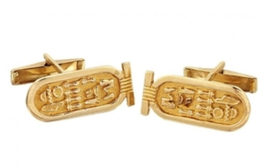 A pair of Egyptian inspired novelty cufflinks,...