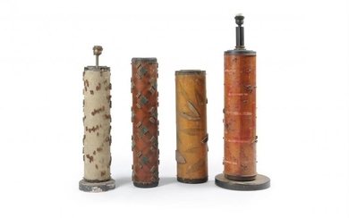 Four fabric rollers