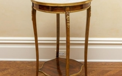 French Louis XV Bronze Mounted Lamp Table