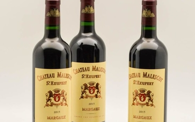 Chateau Malescot St. Exupery 2015, 3 bottles