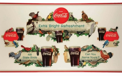 "COCA-COLA ""STATE BIRDS"" BACKBAR DISPLAY."