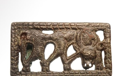 Bronze Plaque with Grazing Stag, c. 1st Millennium B.C.