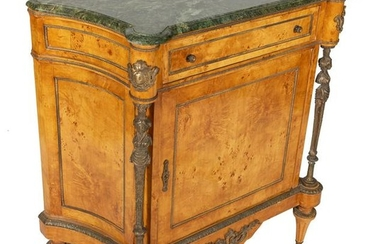 French Style Marble Top Cabinet