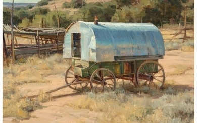 68063: Clyde Aspevig (American, b. 1951) Sheep Wagon Oi