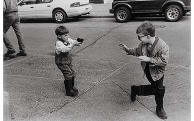 George Zimbel (b. 1929), A Group of Three Photographs of Boys with Their Guns (1948, 1969, 1996)