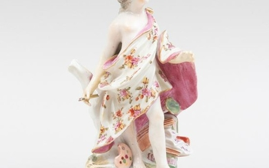 Bow Porcelain Figure Emblematic of the Arts