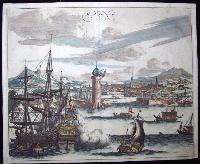 Anonymous artist: VIEW OF HAVANA, CUBA, Year 1780