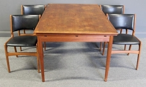 Lot Art Midcentury Danish Modern Expandable Dining Table