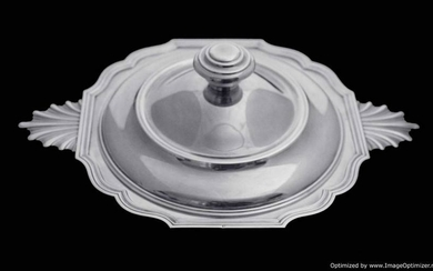 CHRISTOFLE ART DECO STERLING SILVER COVERED VEGETABLE