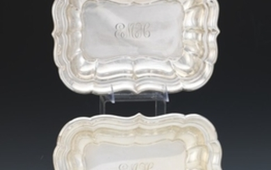 """Reed & Barton Pair of Sterling Silver Entree Dishes, """"Windsor"""" Pattern, dated 1950"""