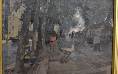 P F Pihinger*, (20th century) Paris street scene, signed oil...