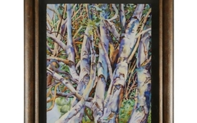 PATRICIA TOBACCO FORRESTER (american, b. 1940) TREES Pencil signed...