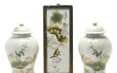 Three Chinese Republic Porcelain covered Jars and