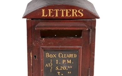 A 19TH CENTURY MAHOGANY COUNTRY HOUSE LETTERBOX, t…
