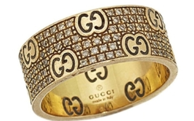 A diamond-set 'Icon' ring, by Gucci, the...