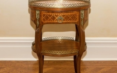 Louis XV French Inlaid & Bronze Mounted Side Table