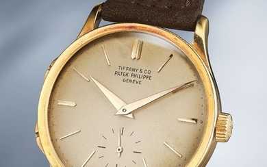 Patek Philippe, Ref. 2597 A extremely rare and well-preserved yellow gold traveller's wristwatch with separately adjustable hour hand