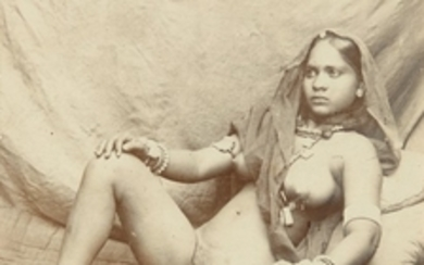 PHOTOGRAPH | INDIAN FEMALE NUDE, LATE NINETEENTH CENTURY