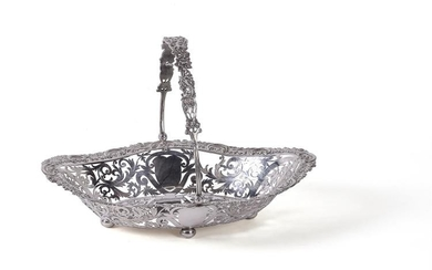 A silver shaped oval basket by James Dixon & Sons Ltd