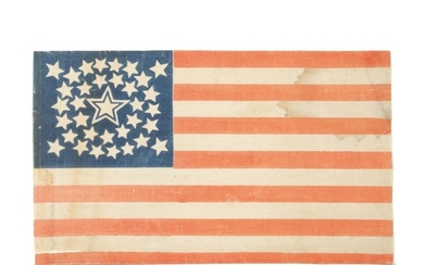 THIRTY-FOUR STAR AMERICAN NATIONAL PARADE FLAG, 1861-1863