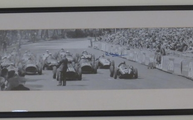 Two start line photoprints depicting Monaco Grand Prix races,