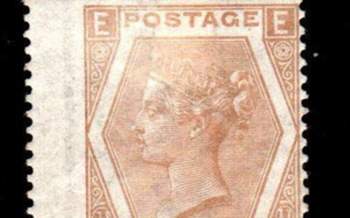 Great Britain 1872 - 6 d pale buff plate 11 - Stanley Gibbons N. 123