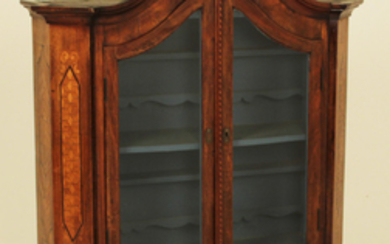 19TH C. CONTINENTAL ARCHED TOP WALNUT CABINET