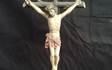 Crucifix, Tabletop, Polycrome (1) - Wood - 19th century