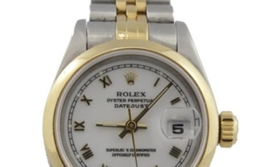 Ladies steel & gold Rolex Oyster perpetual datejust wristwat...