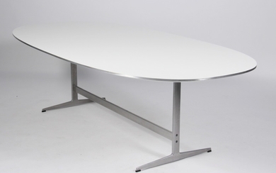 Arne Jacobsen / Piet Hein, Super-Ellipse dining table with a shaker frame