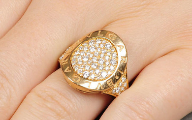 An 18ct gold diamond 'Bulgari Bulgari' ring, by