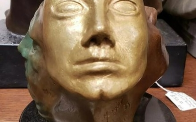 1973 Perpetual Faces Bronze Sculpture on Stone Base