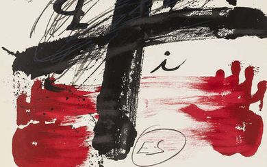 Antoni Tapies (1923-2012) An exhibition poster for Nationalgalerie Berlin, 1974