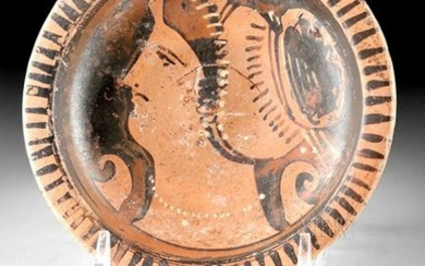 Apulian Red-Figure Footed Dish w/ Lady of Fashion