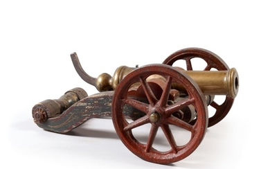 FRENCH CAST BRASS SIGNAL CANNON, CIRCA 1825