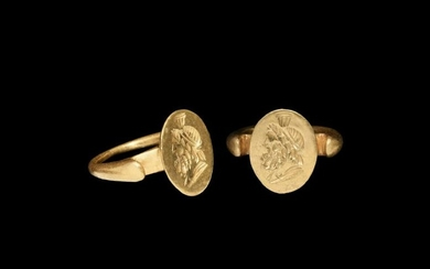 Hellenistic Gold Ring with Zeus Serapis