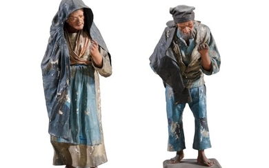 A PAIR OF MALTESE PAPIER MACHÉ FIGURES, 19th centu…
