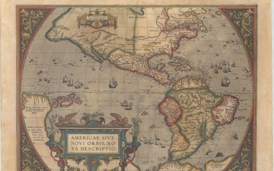 "Ortelius' Influential Map of the New World, ""Americae sive Novi Orbis, Nova Descriptio"", Ortelius, Abraham"