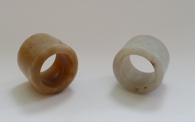 A Two Chinese Jade Archer's Rings
