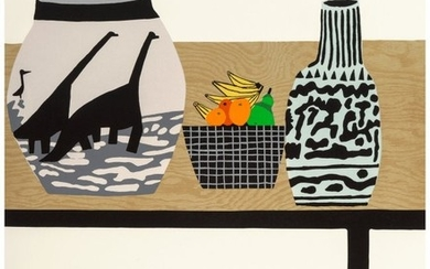 65165: Jonas Wood (b. 1977) Shelf Still Life, 2018 Lith