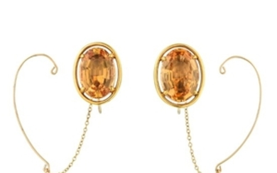 A Pair of Topaz Earclips