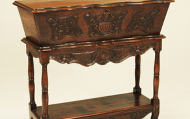 CARVED WALNUT COUNTRY FRENCH PANETTIERE