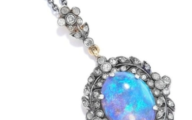 OPAL AND DIAMOND PENDANT NECKLACE comprising of a