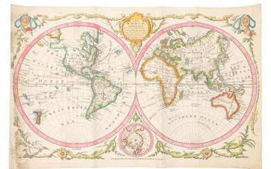 World map showing latest discoveries, 1778