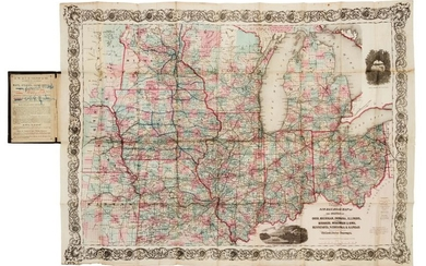 COLTON, G.W. and C.B. Colton's New railroad Map of the