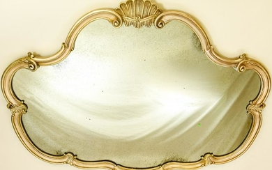 French Style Gilt Mirror W Antiqued Glass
