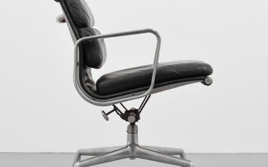 "Charles & Ray Eames; Herman Miller - Charles & Ray Eames ""Soft Pad"" Office Chair"