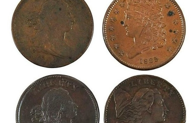 Group of U.S. Half Cents