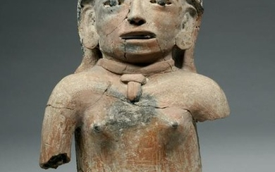 Veracruz Pottery Figure of a Kneeling Female