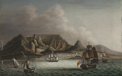 Chinese School, early 19th Century, after William Marshall Craig, A View of the Cape of Good Hope